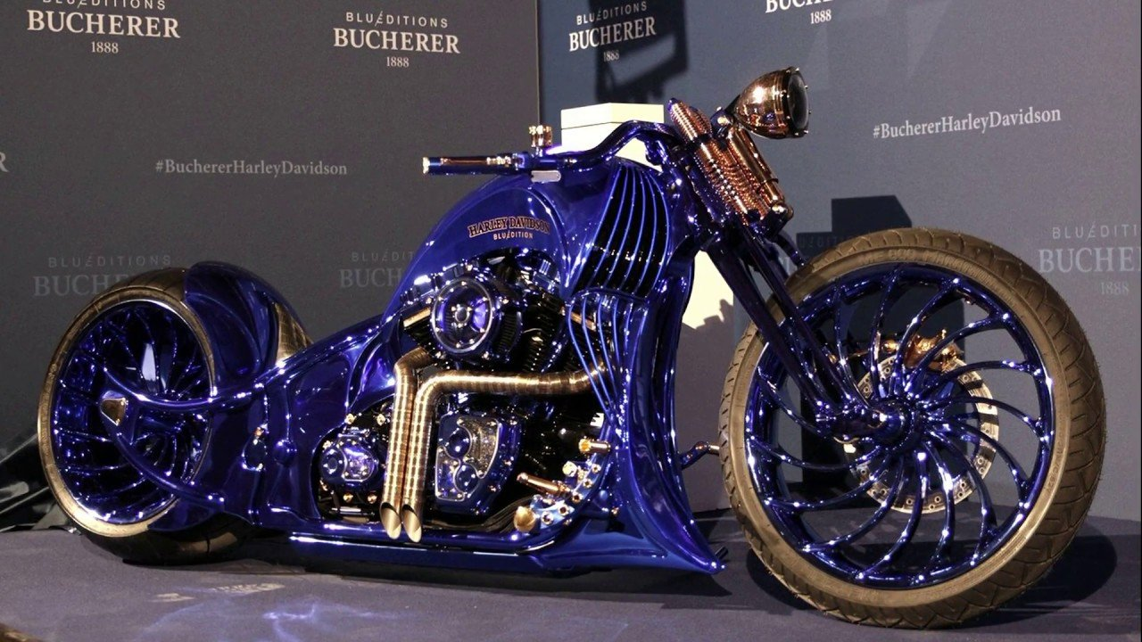 Harley Davidson Blue Edition by Bucherer - the most luxurious motorbike of  all time - Theauto.eu