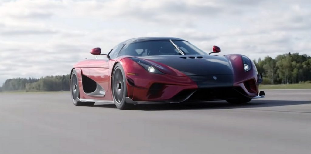 Koenigsegg Regera to 400 kmh and back to zero in just 31.49 seconds.